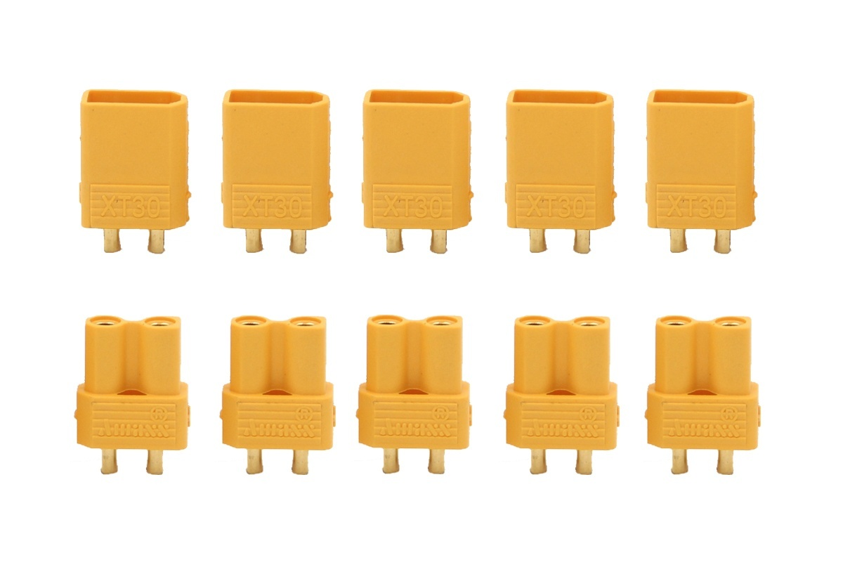 XT 30 Goldkontakte Stecker gelb