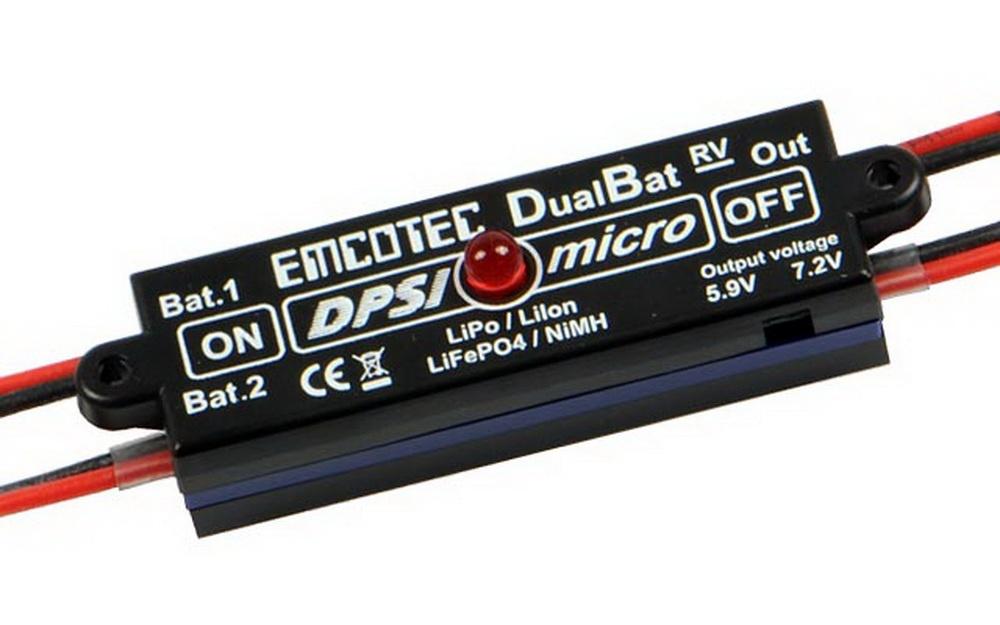 Akkuweiche DPSI Micro DualBat 5.9V/7.2V JR