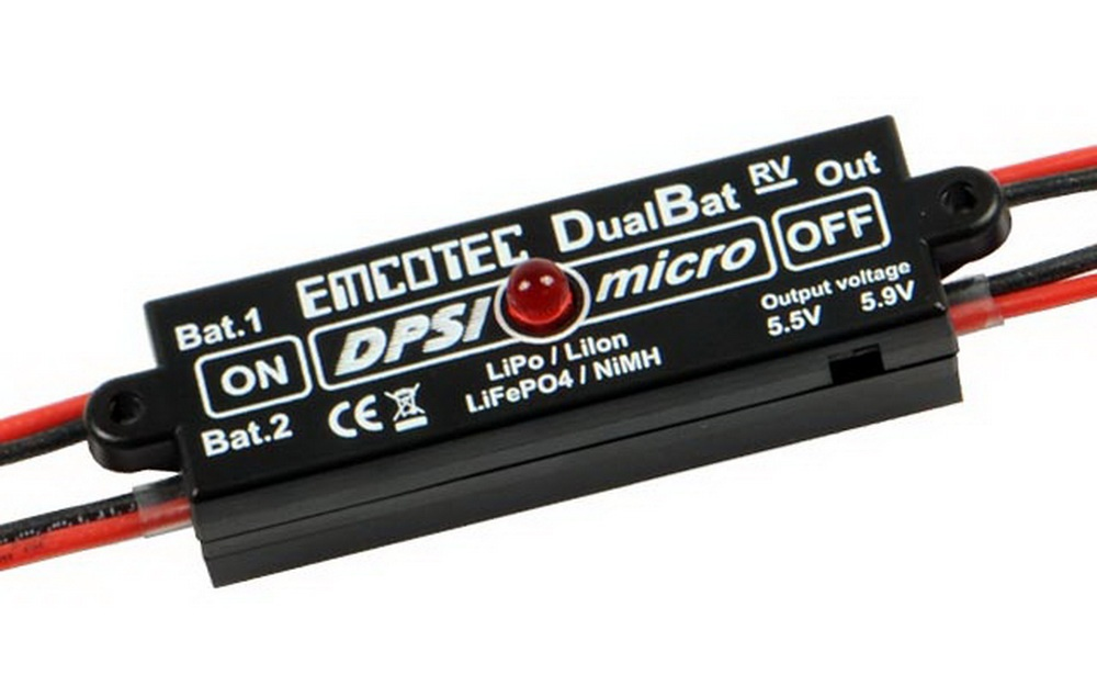 Akkuweiche DPSI Micro DualBat 5.9V/7.2V MPX-1xMPX
