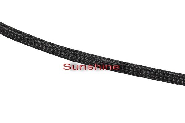 Geflechtschlauch schwarz 5,0-11,0mm